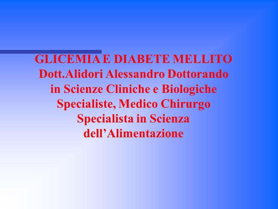 GLICEMIA E DIABETE MELLITO