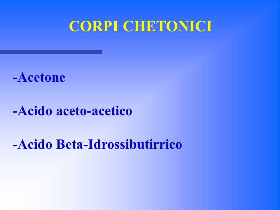 -Acido Beta-Idrossibutirrico