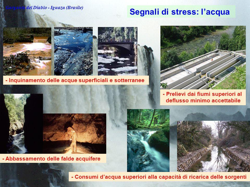 Segnali di stress: l'acqua