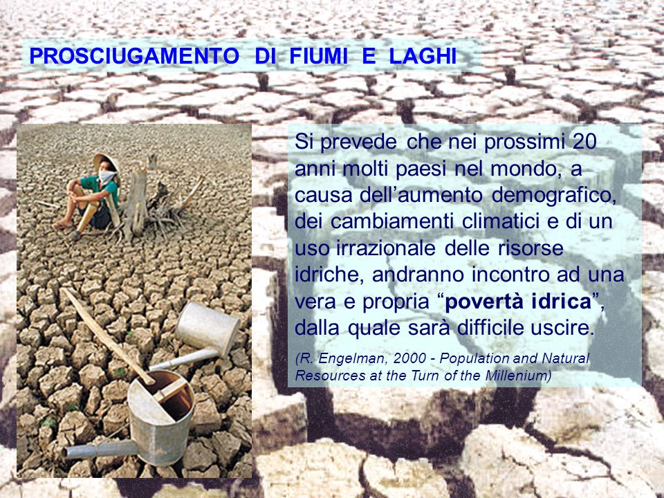 PROSCIUGAMENTO DI FIUMI E LAGHI