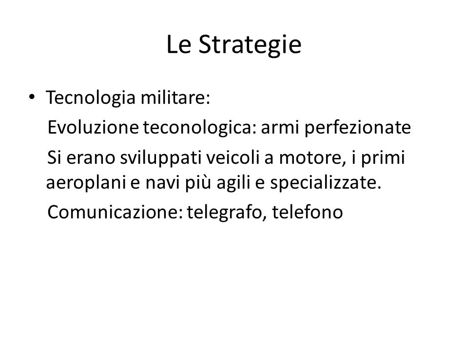 Le Strategie Tecnologia militare: