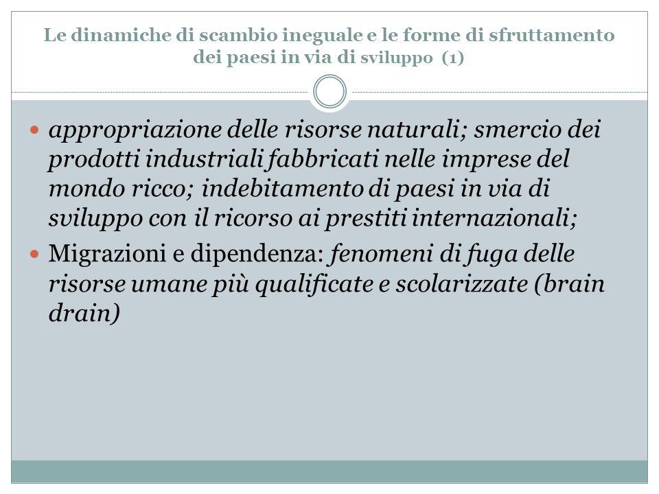 Le dinamiche di scambio ineguale e le forme di sfruttamento dei paesi in via di sviluppo (1)