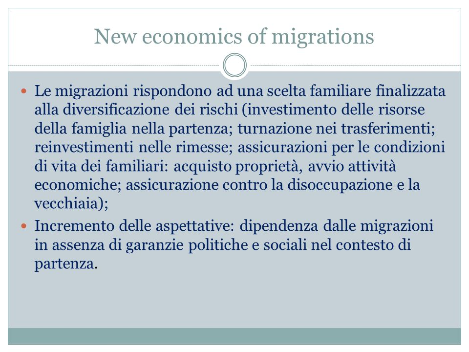 New economics of migrations