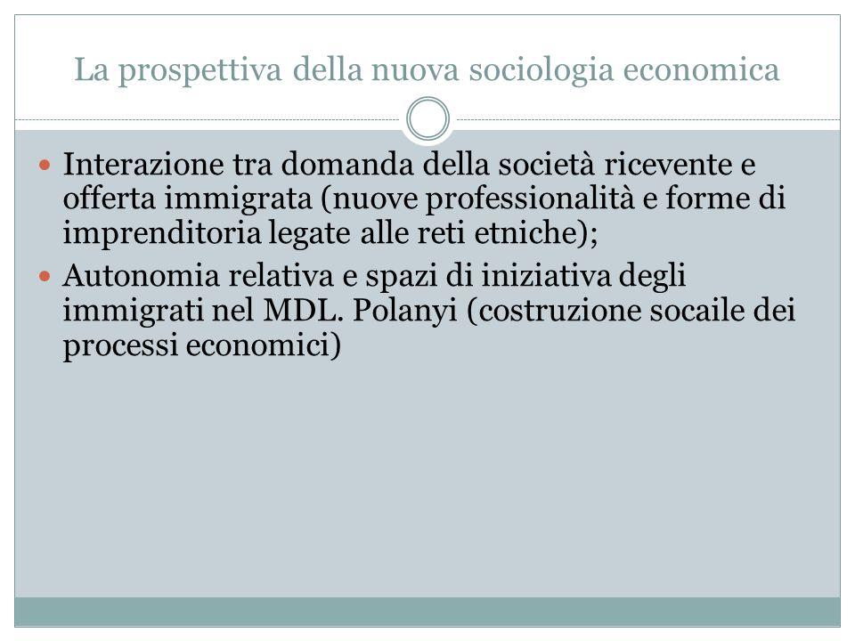 La prospettiva della nuova sociologia economica