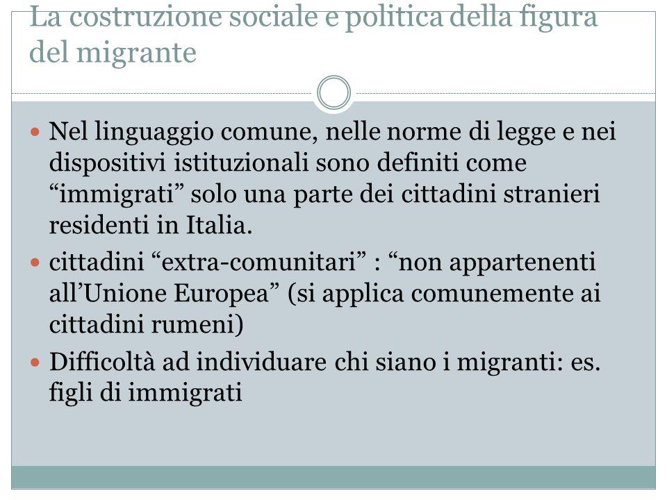 La costruzione sociale e politica della figura del migrante