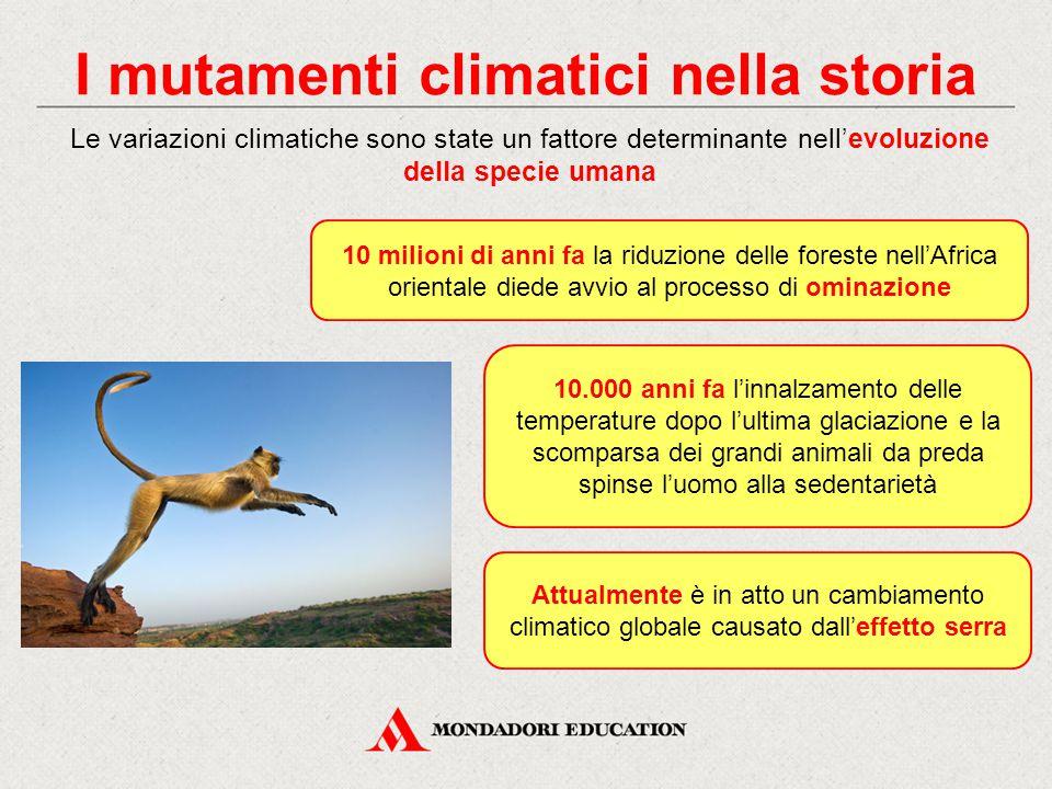 I mutamenti climatici nella storia