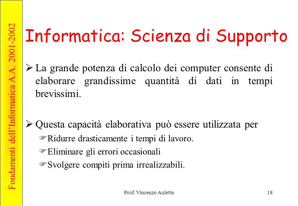 Informatica: Scienza di Supporto