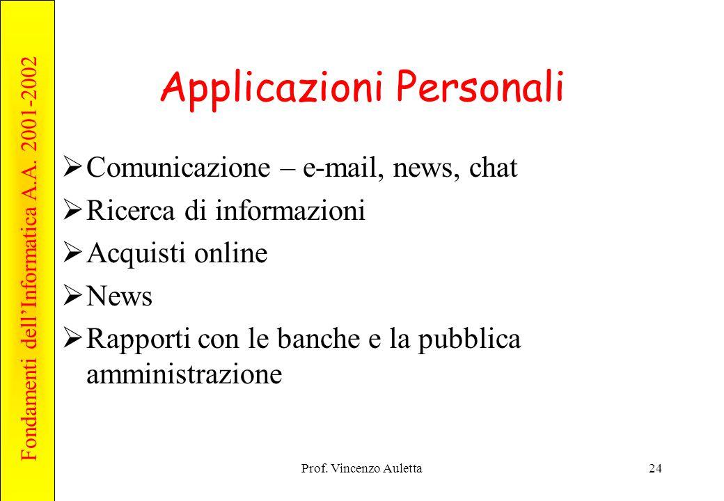 Applicazioni Personali