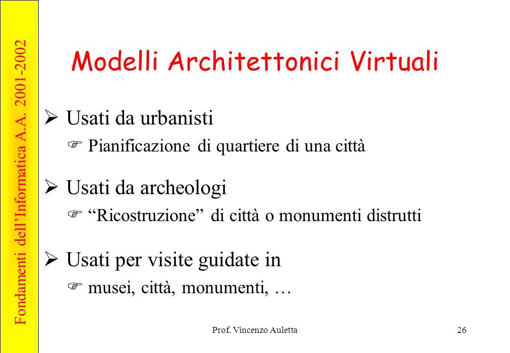 Modelli Architettonici Virtuali