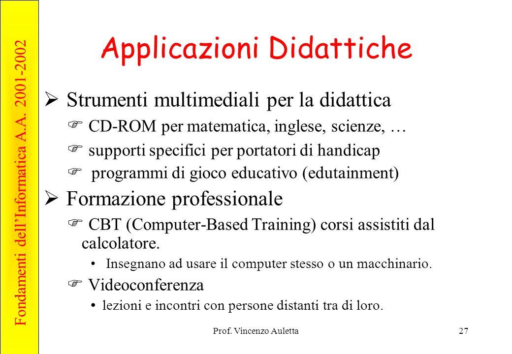 Applicazioni Didattiche