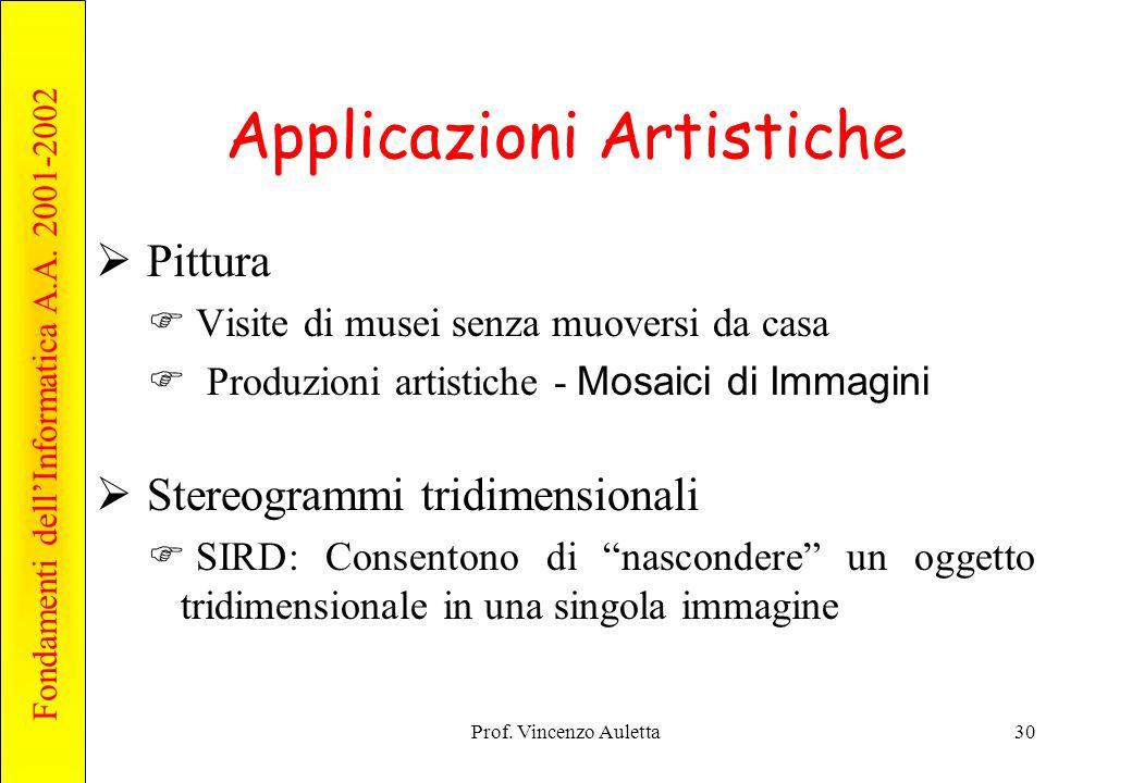 Applicazioni Artistiche