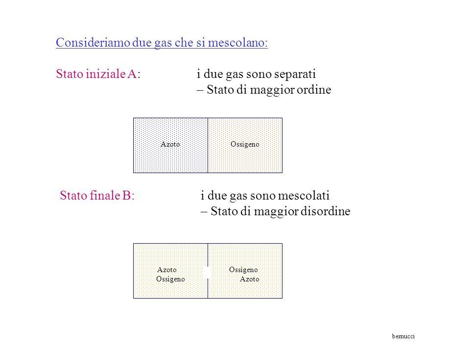 Consideriamo due gas che si mescolano: