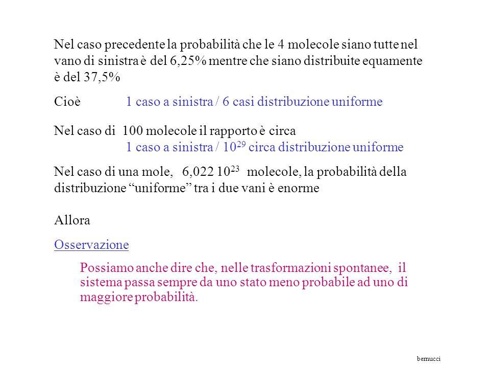 Cioè 1 caso a sinistra / 6 casi distribuzione uniforme
