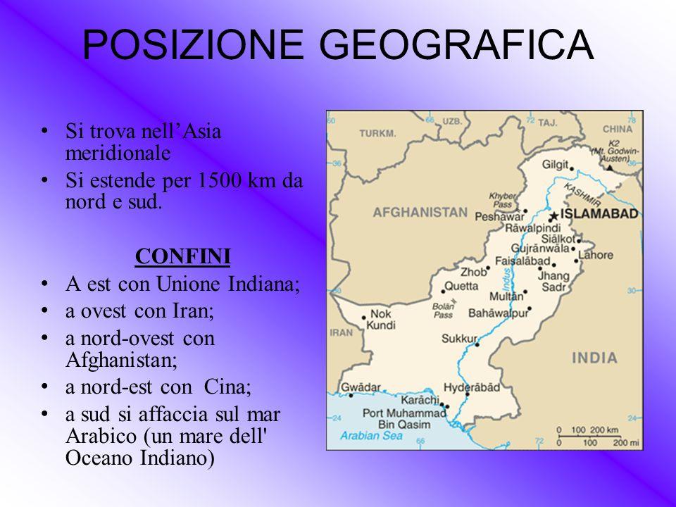 POSIZIONE GEOGRAFICA Si trova nell'Asia meridionale