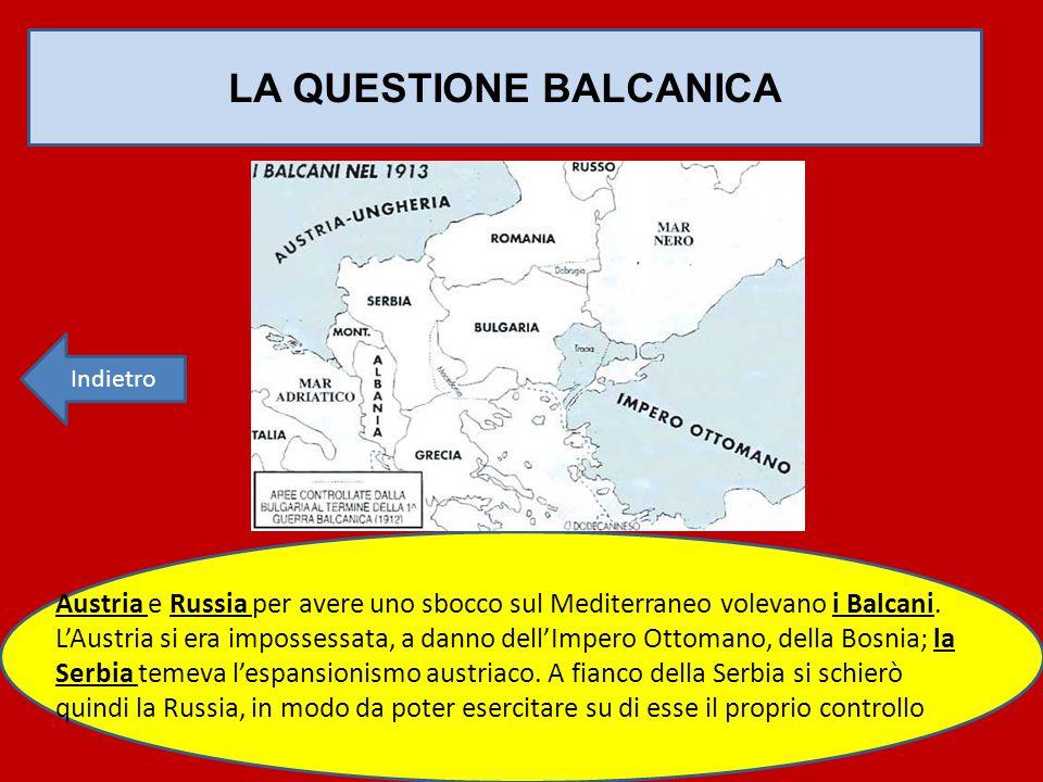 LA QUESTIONE BALCANICA