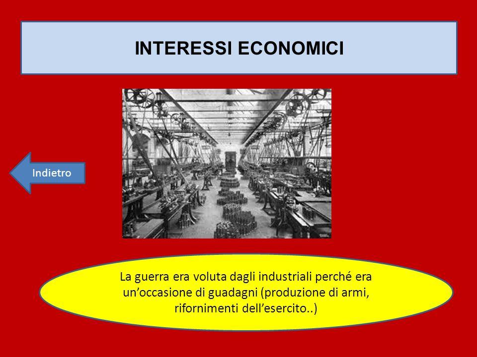 INTERESSI ECONOMICI Indietro.