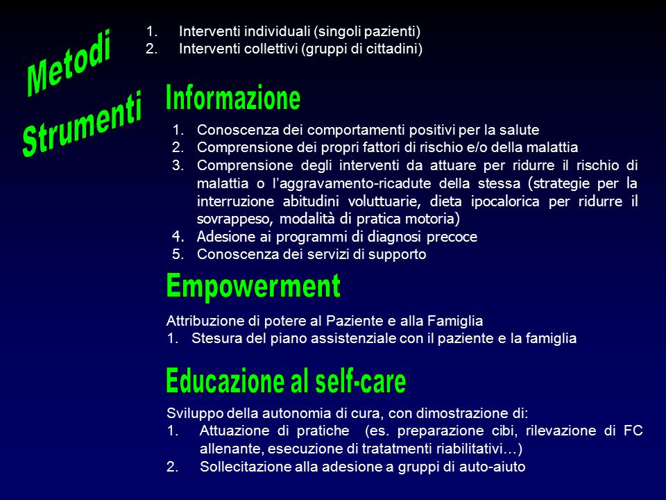 Educazione al self-care