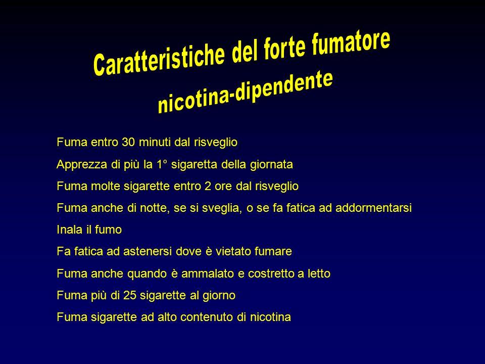 Caratteristiche del forte fumatore