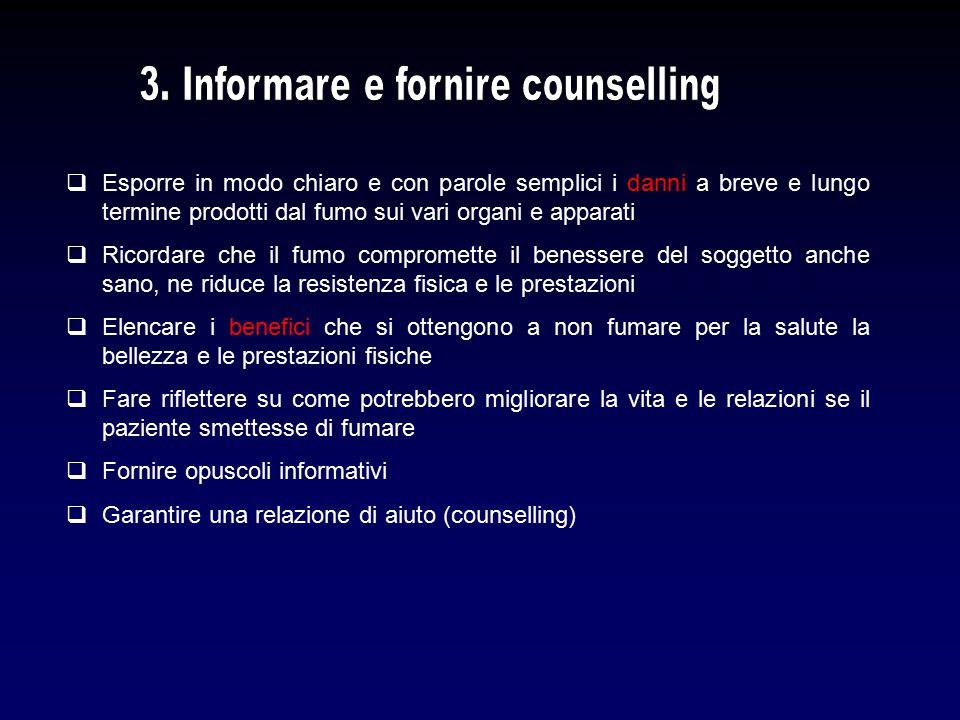 3. Informare e fornire counselling
