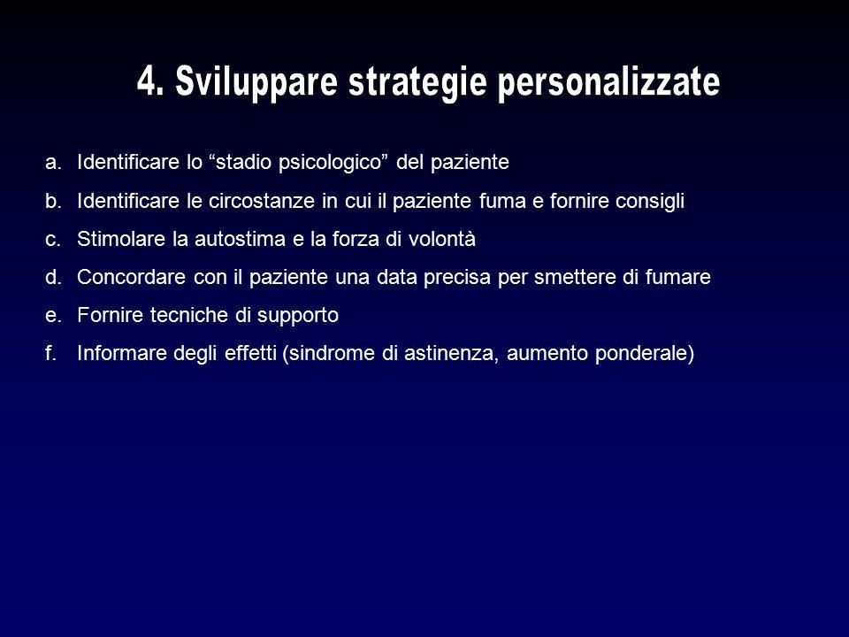 4. Sviluppare strategie personalizzate