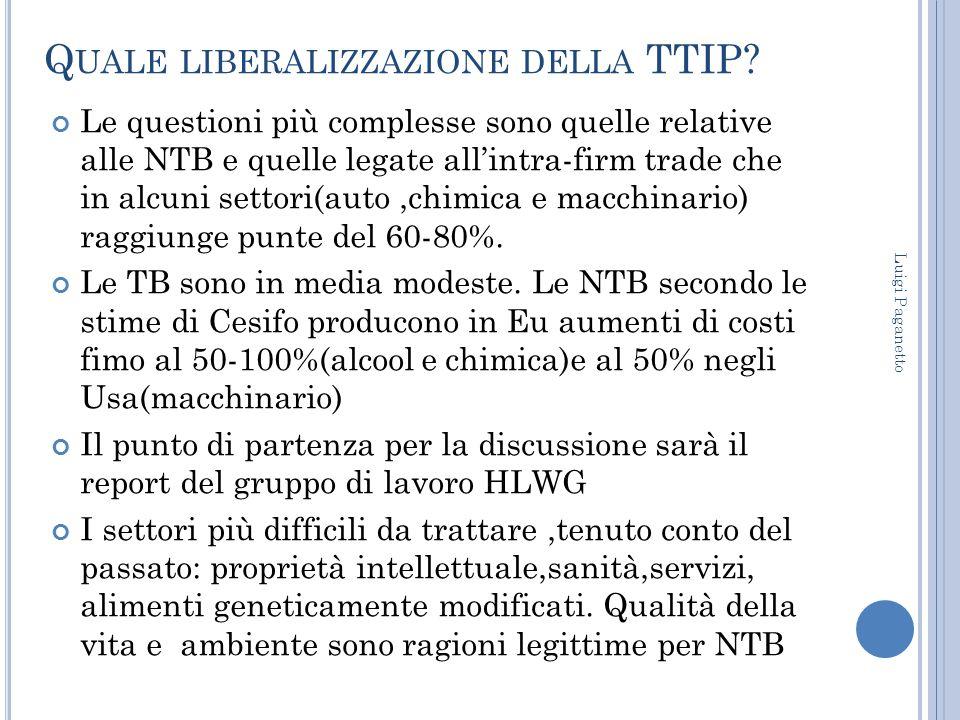 Quale liberalizzazione della TTIP
