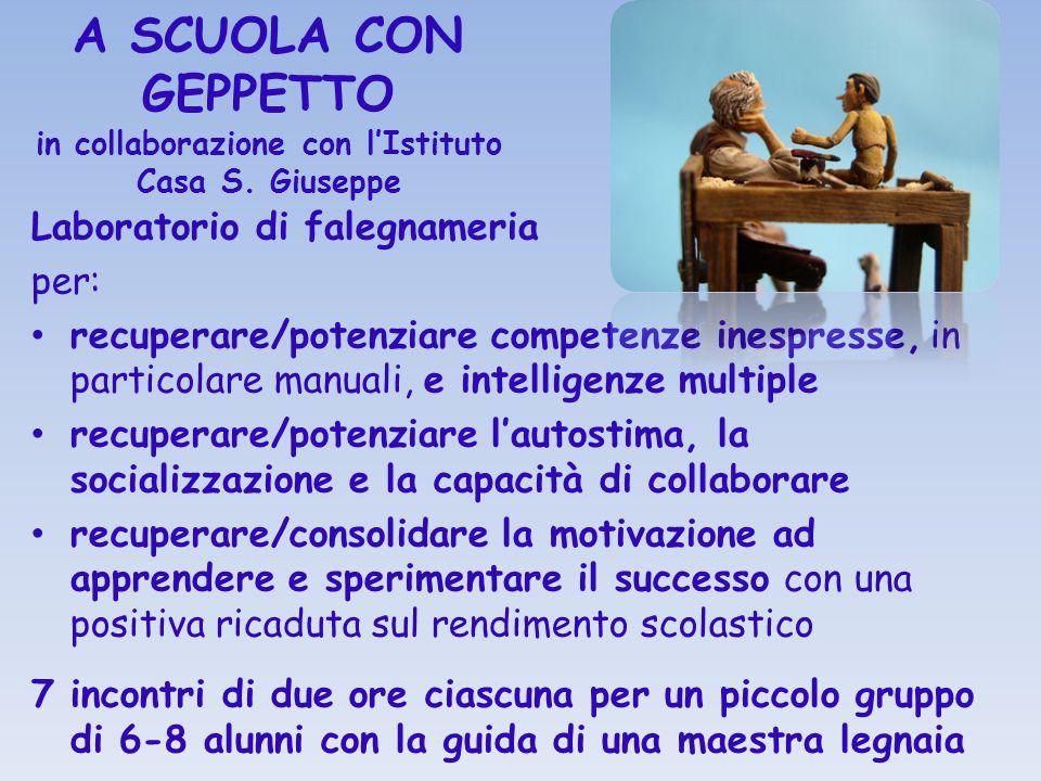 A SCUOLA CON GEPPETTO in collaborazione con l'Istituto Casa S. Giuseppe