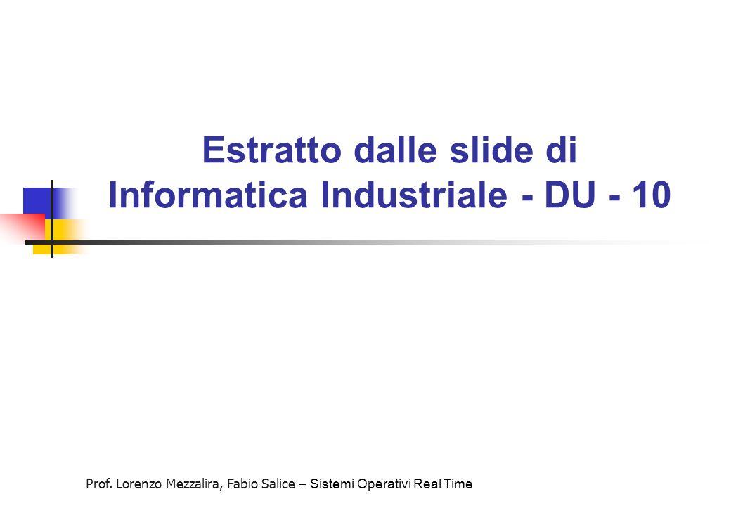 Estratto dalle slide di Informatica Industriale - DU - 10
