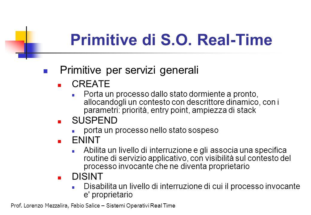 Primitive di S.O. Real-Time