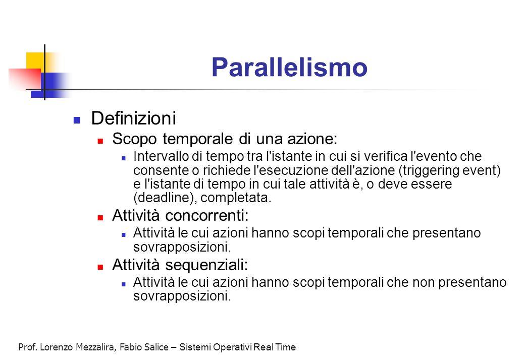 Parallelismo Definizioni Scopo temporale di una azione:
