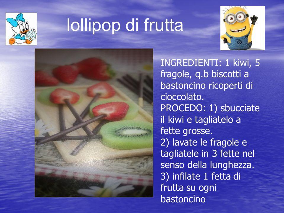 lollipop di frutta