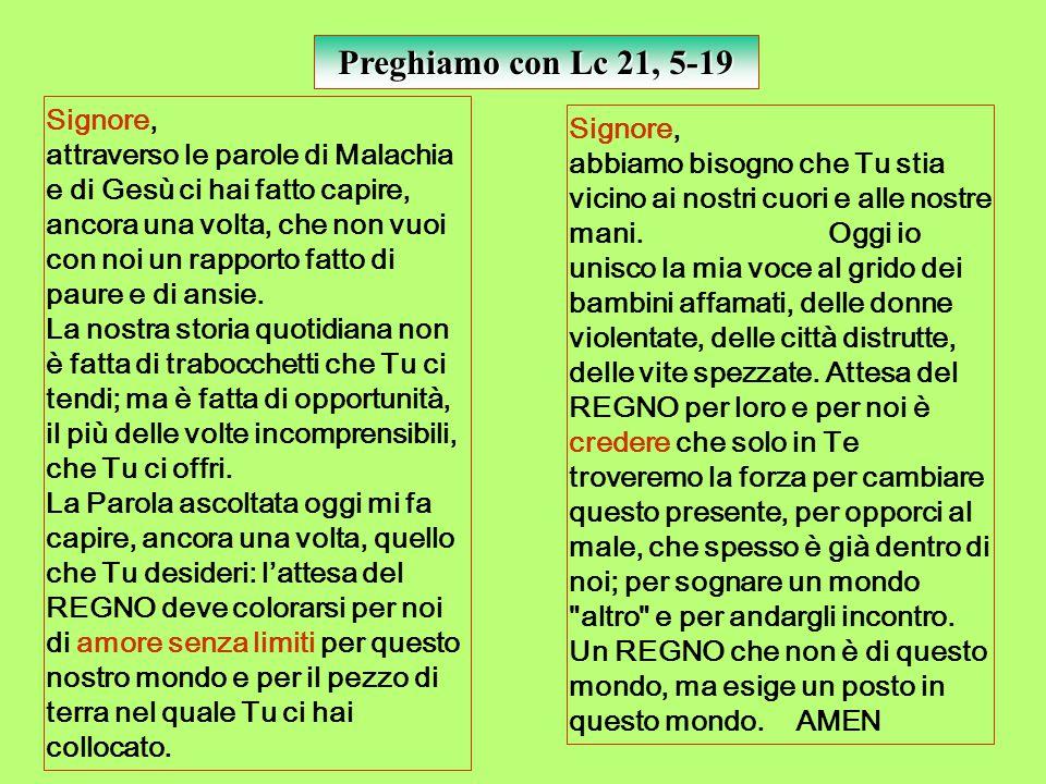 Preghiamo con Lc 21, 5-19