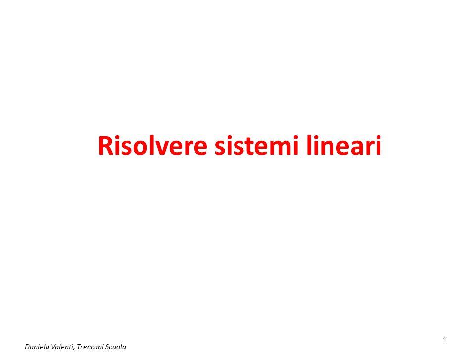 Risolvere sistemi lineari