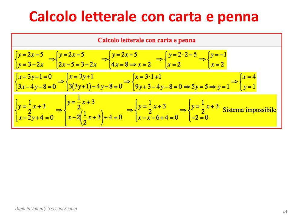 Calcolo letterale con carta e penna
