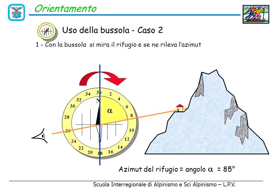 Orientamento Uso della bussola - Caso 2  Rif. Mores R. Città di Busto