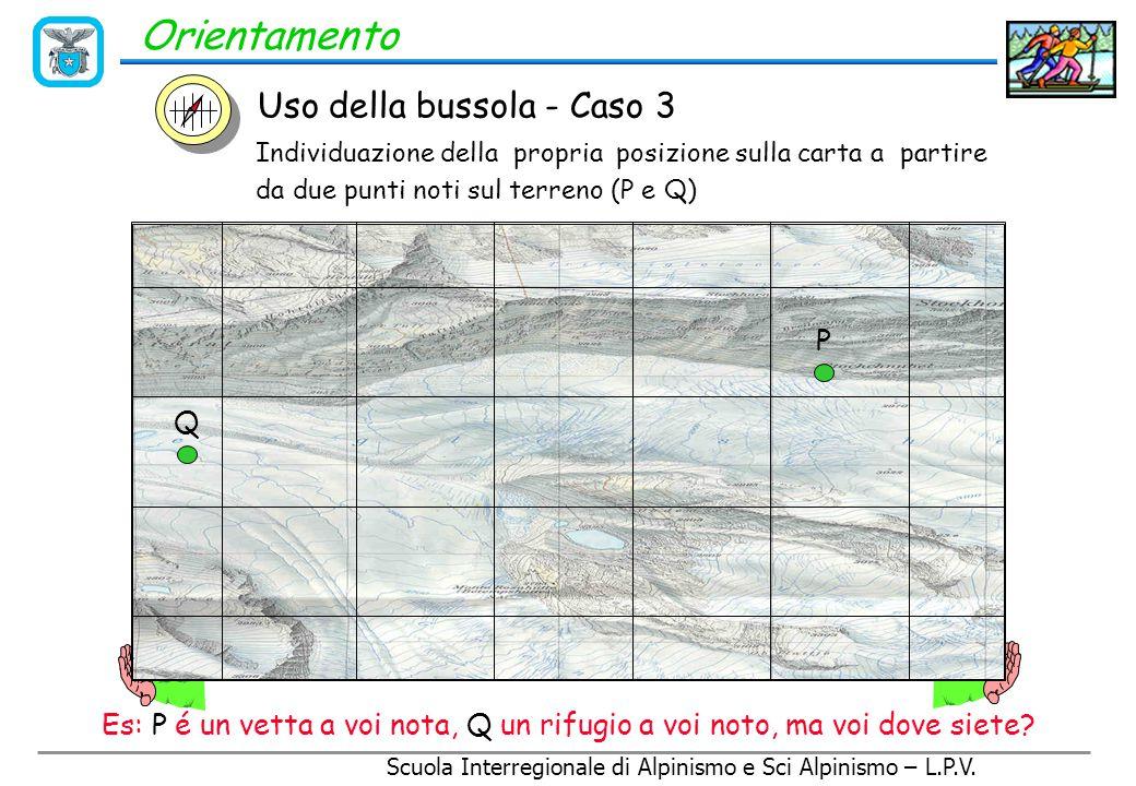 Orientamento Uso della bussola - Caso 3 P Q