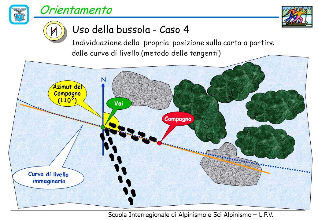 Orientamento Uso della bussola - Caso 4 C D B A