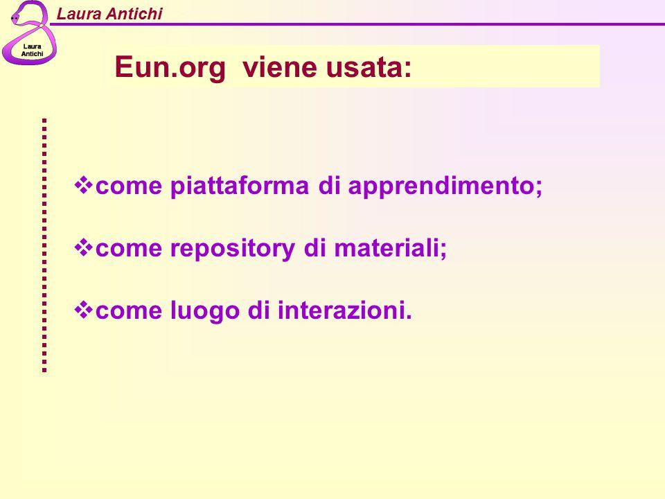 Eun.org viene usata: come piattaforma di apprendimento;
