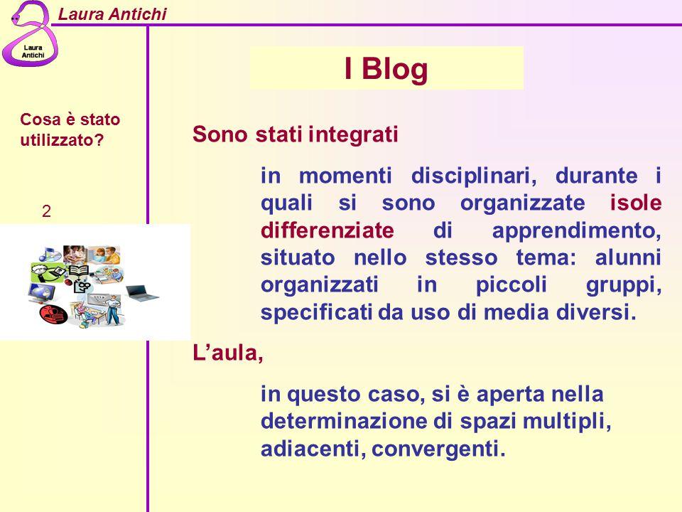 I Blog Sono stati integrati