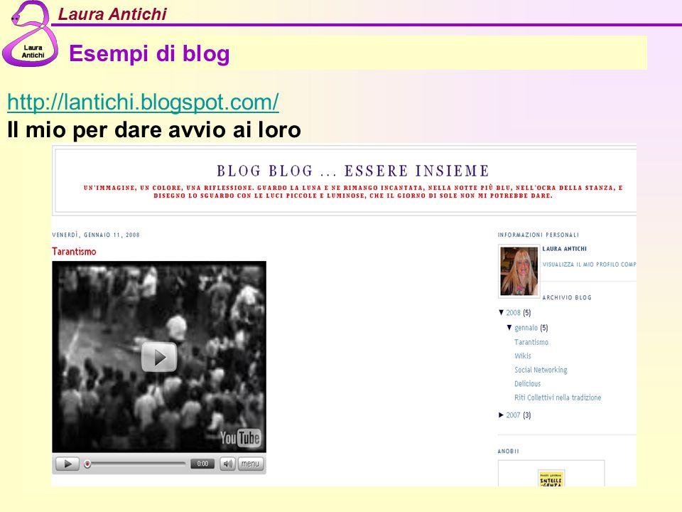 Esempi di blog http://lantichi.blogspot.com/ Il mio per dare avvio ai loro