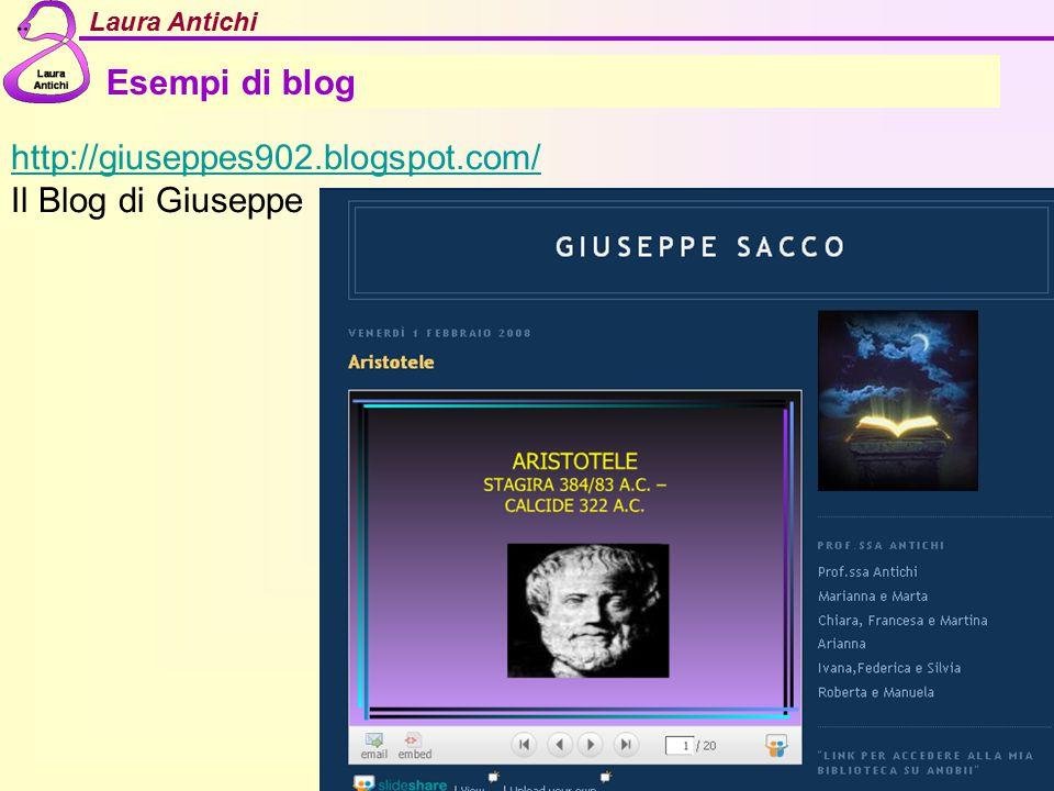 Esempi di blog http://giuseppes902.blogspot.com/ Il Blog di Giuseppe