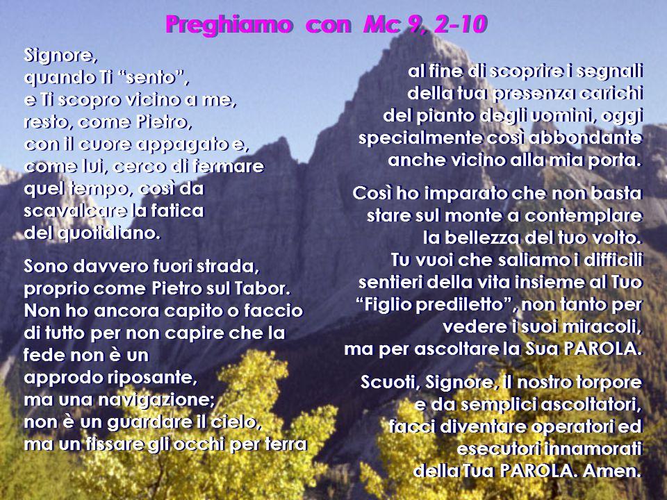 Preghiamo con Mc 9, 2-10
