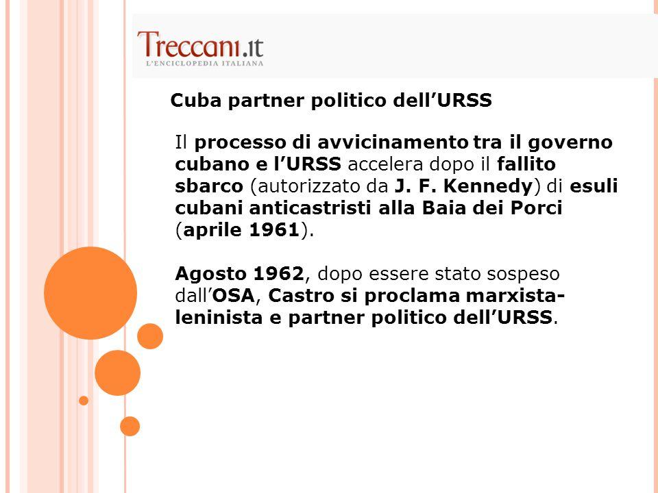 Cuba partner politico dell'URSS