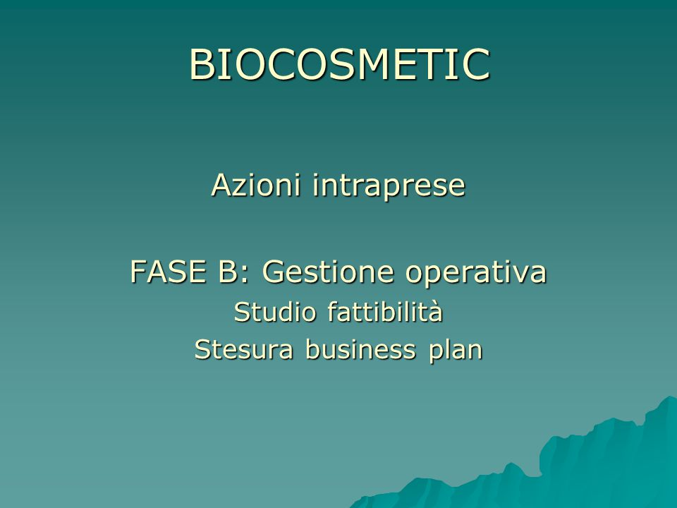 FASE B: Gestione operativa