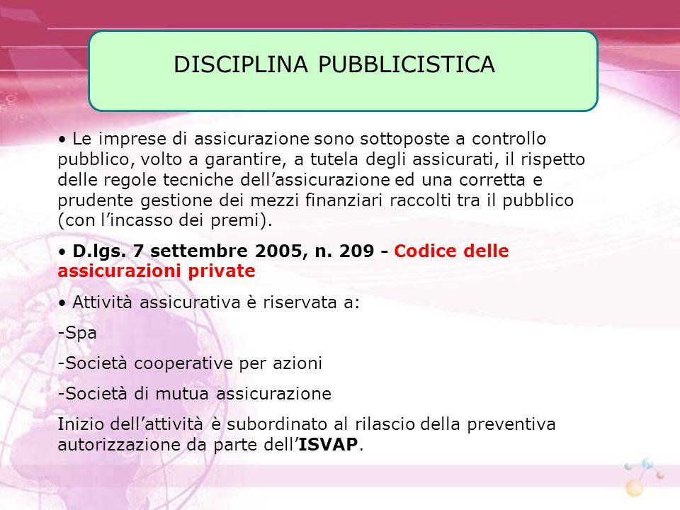 DISCIPLINA PUBBLICISTICA