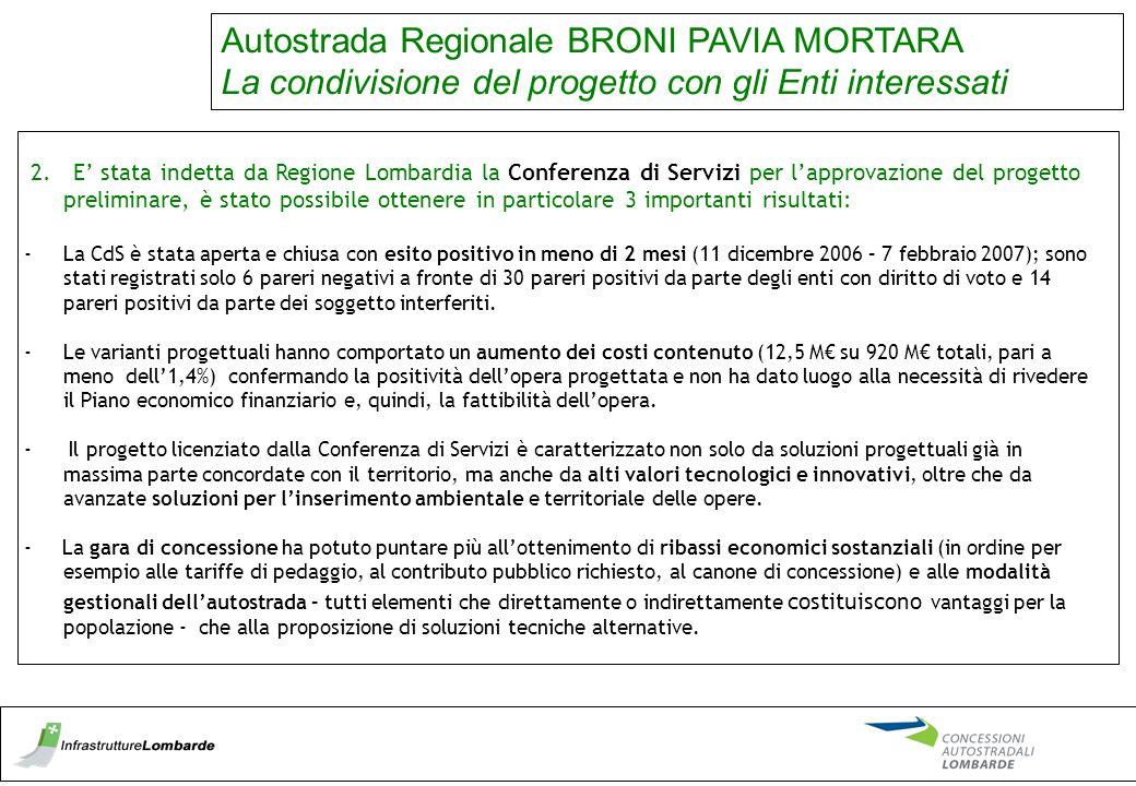 Autostrada Regionale BRONI PAVIA MORTARA