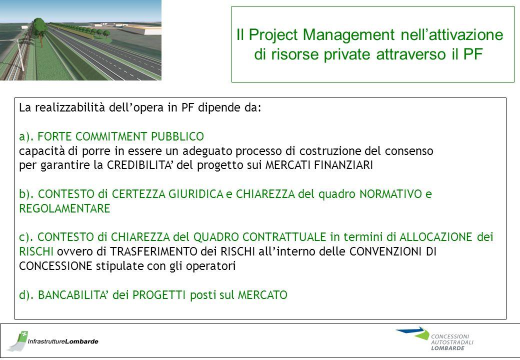 Il Project Management nell'attivazione di risorse private attraverso il PF
