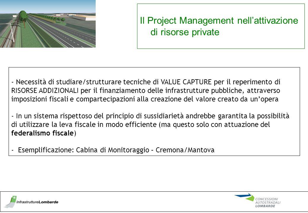 Il Project Management nell'attivazione di risorse private