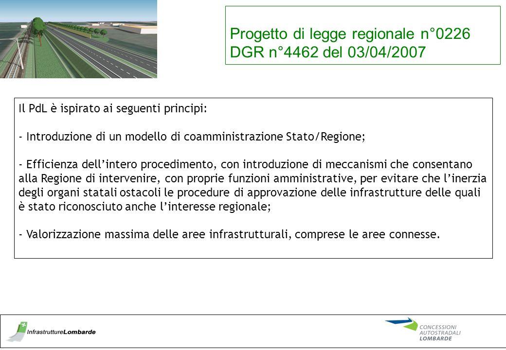 Progetto di legge regionale n°0226 DGR n°4462 del 03/04/2007