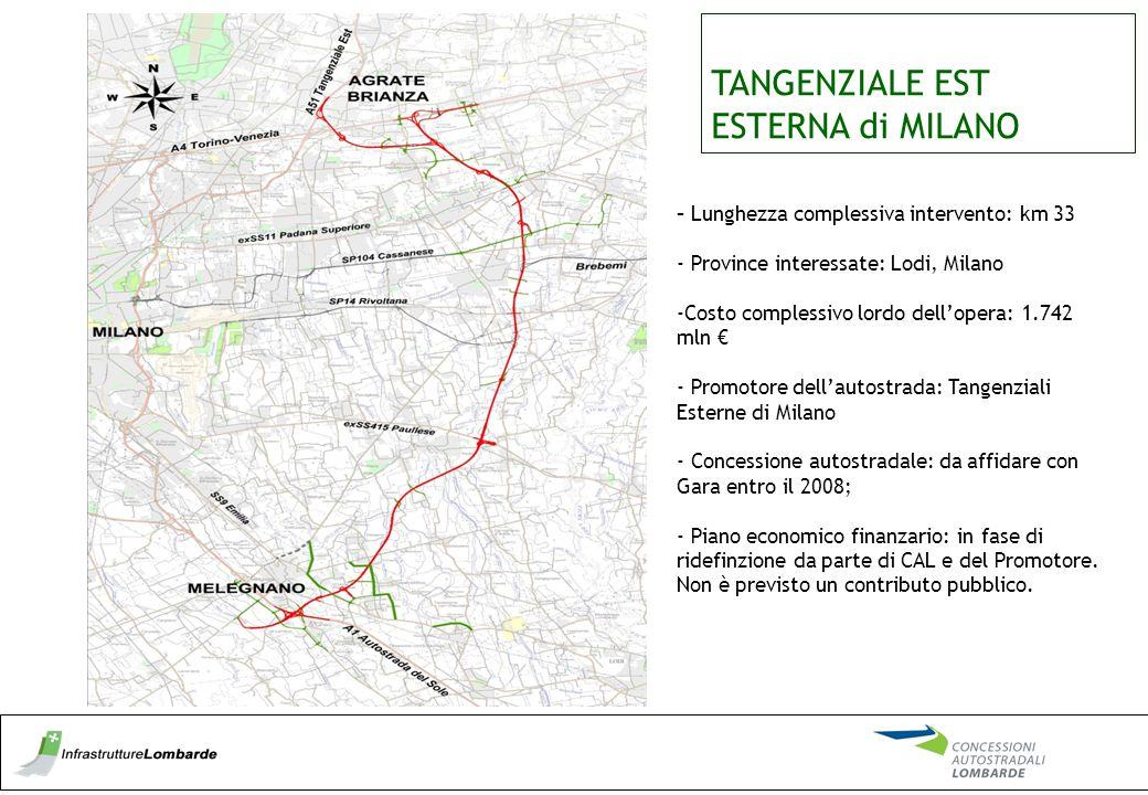 TANGENZIALE EST ESTERNA di MILANO