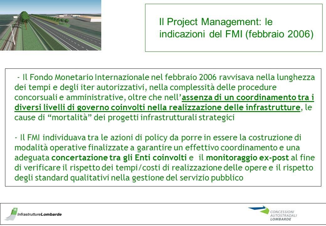 Il Project Management: le indicazioni del FMI (febbraio 2006)